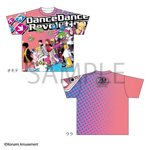 DanceDanceRevolution 20th Anniversary フルグラフィックTシャツ